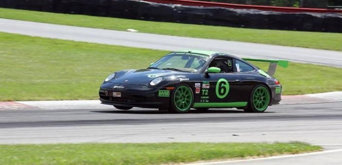 Gary Mason in the Angry Sheep Porsche 996 C2 Qualifies on Pole for the PBIR Majors Group 2 race in T2