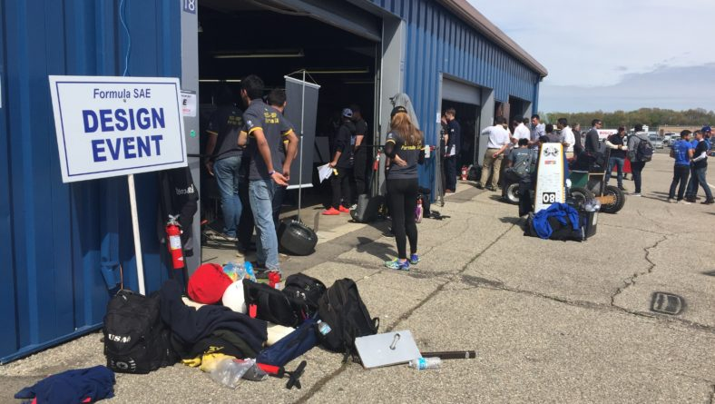 Angelo Zarra Judges Formula SAE Michigan Competition